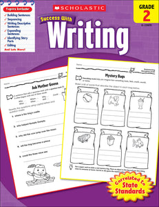 Scholastic Success With Writing: Grade 2 Workbook