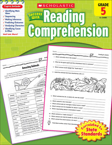 Scholastic Success With Reading Comprehension: Grade 5 Workbook