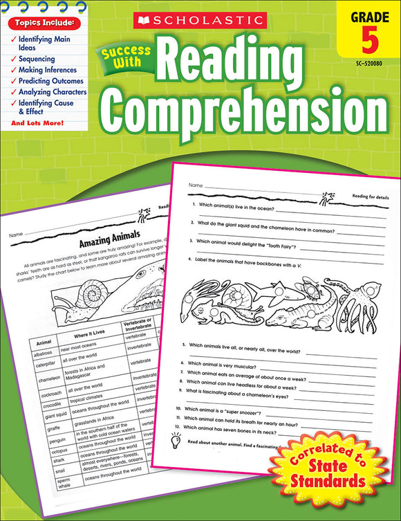 Scholastic Success With Reading Comprehension: Grade 5 Workbook (4632418943072)