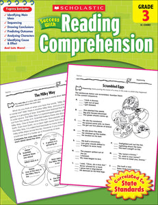 Scholastic Success With Reading Comprehension: Grade 3 Workbook