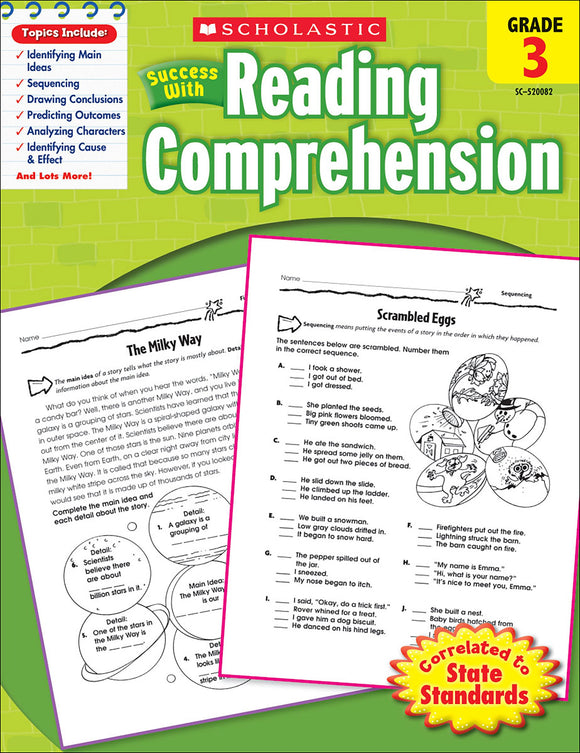 Scholastic Success With Reading Comprehension: Grade 3 Workbook (4632419106912)