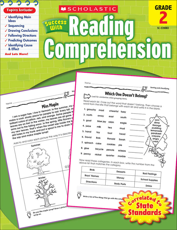 Scholastic Success With Reading Comprehension: Grade 2 Workbook (4632419303520)