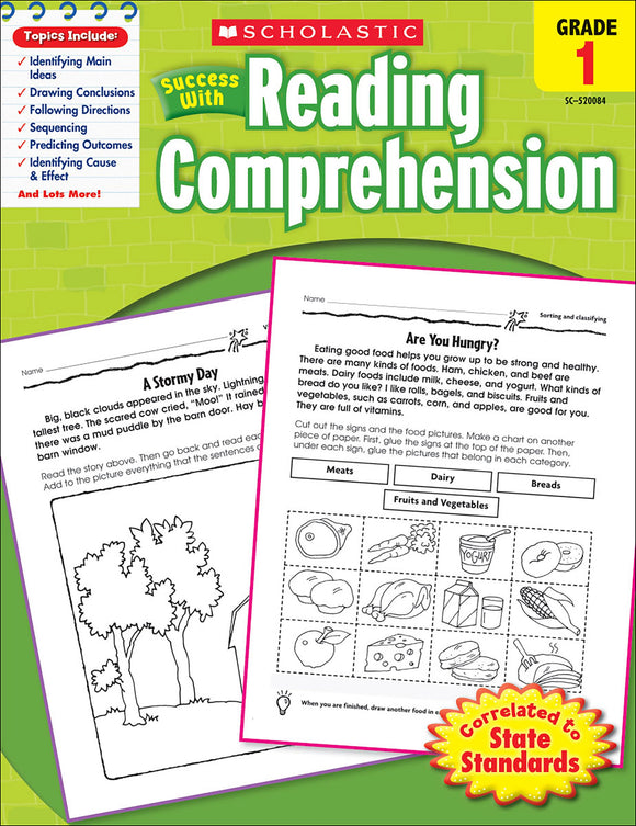 Scholastic Success With Reading Comprehension: Grade 1 Workbook (4632419336288)