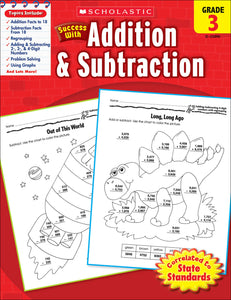 Scholastic Success With Addition & Subtraction: Grade 3 Workbook