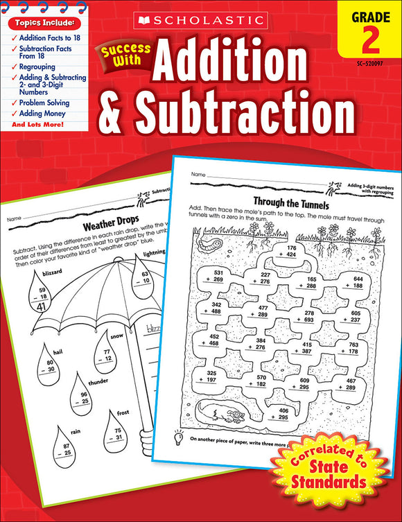 Scholastic Success With Addition & Subtraction: Grade 2 Workbook