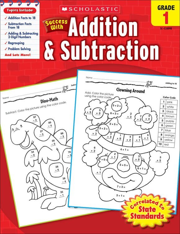 Scholastic Success With Addition & Subtraction: Grade 1 Workbook (4632420024416)