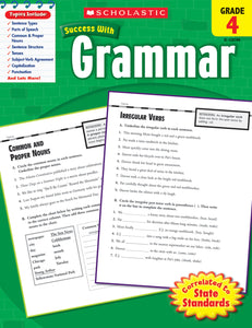Scholastic Success With Grammar: Grade 4 Workbook