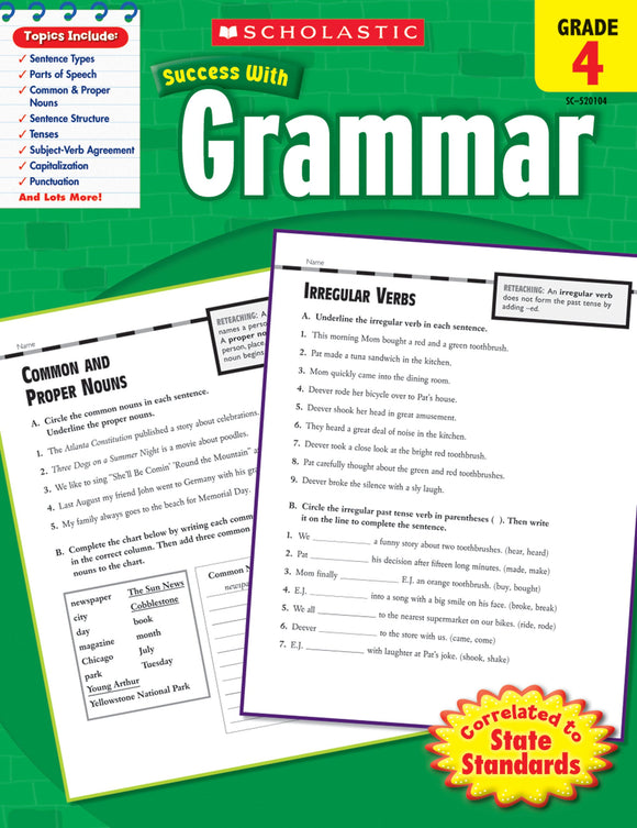Scholastic Success With Grammar: Grade 4 Workbook (4632420122720)