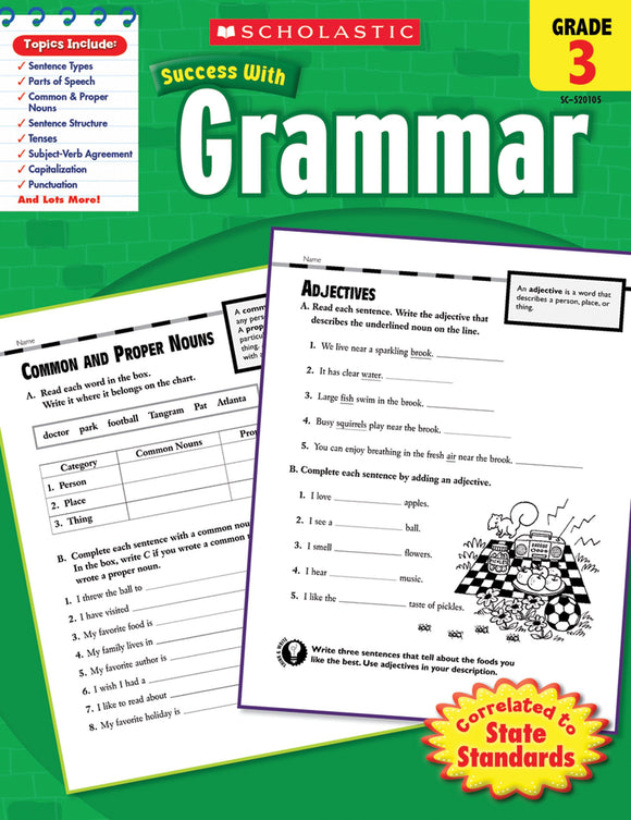 Scholastic Success with Grammar Grade 3 (4632385781856)