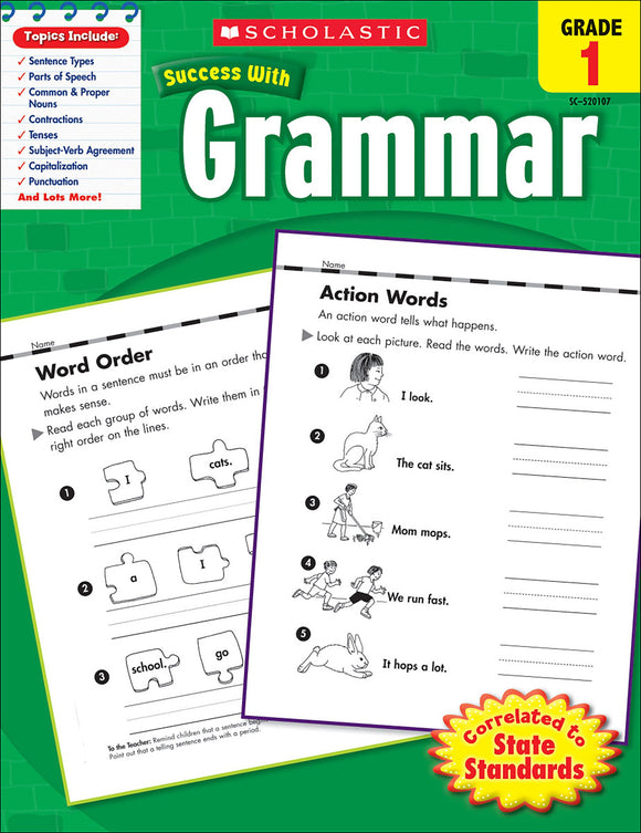 Scholastic Success With Grammar: Grade 1 Workbook (4632420188256)