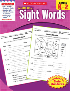 Scholastic Success With Sight Words Workbook
