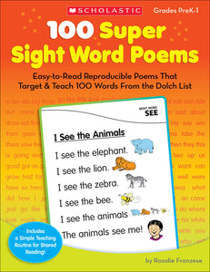 100 Super Sight Word Poems (4632420286560)