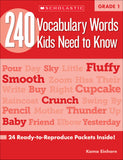 240 Vocabulary Words Kids Need to Know: Grade 1 (4632420384864)