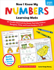 Now I Know My Numbers Learning Mats