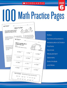 100 Math Practice Pages: Grade 6 (4748938379360)