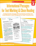 Informational Passages for Text Marking & Close Reading: Grade 3 (4632406327392)