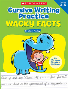 Cursive Writing Practice: Wacky Facts (4632410849376)