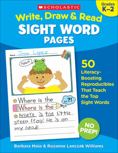Write, Draw & Read: Sight Word Pages (4632428085344)