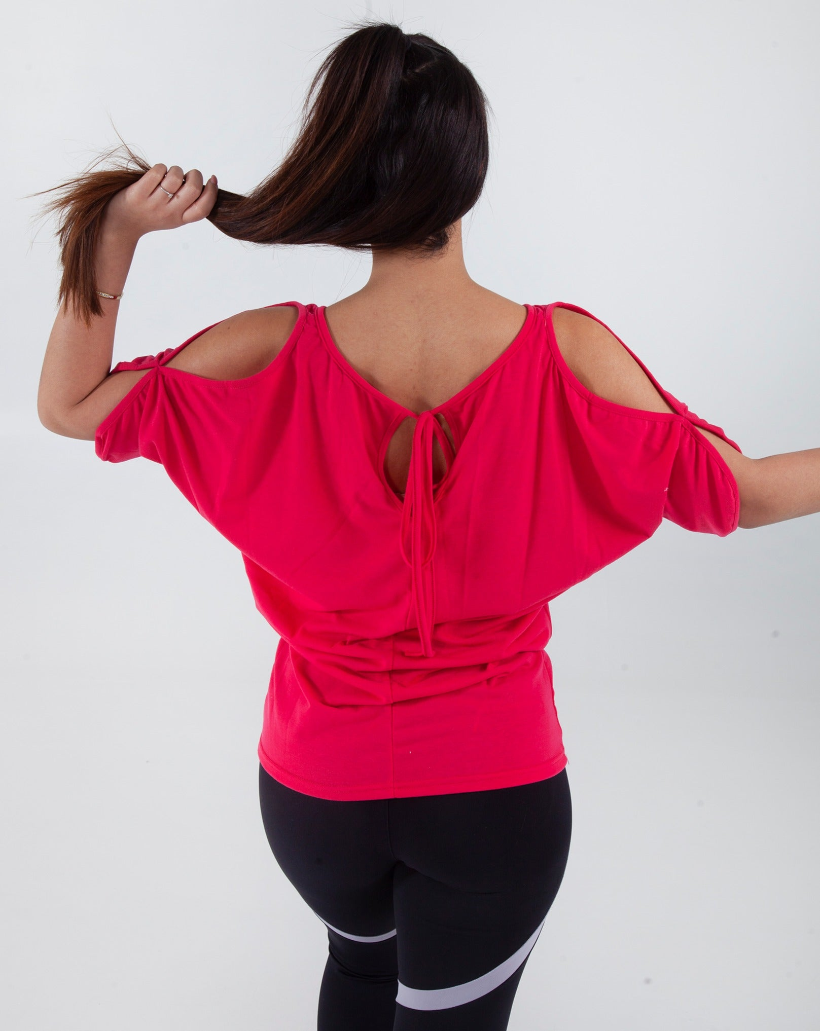 T-shirt Cold Shoulder - Pink & Purple