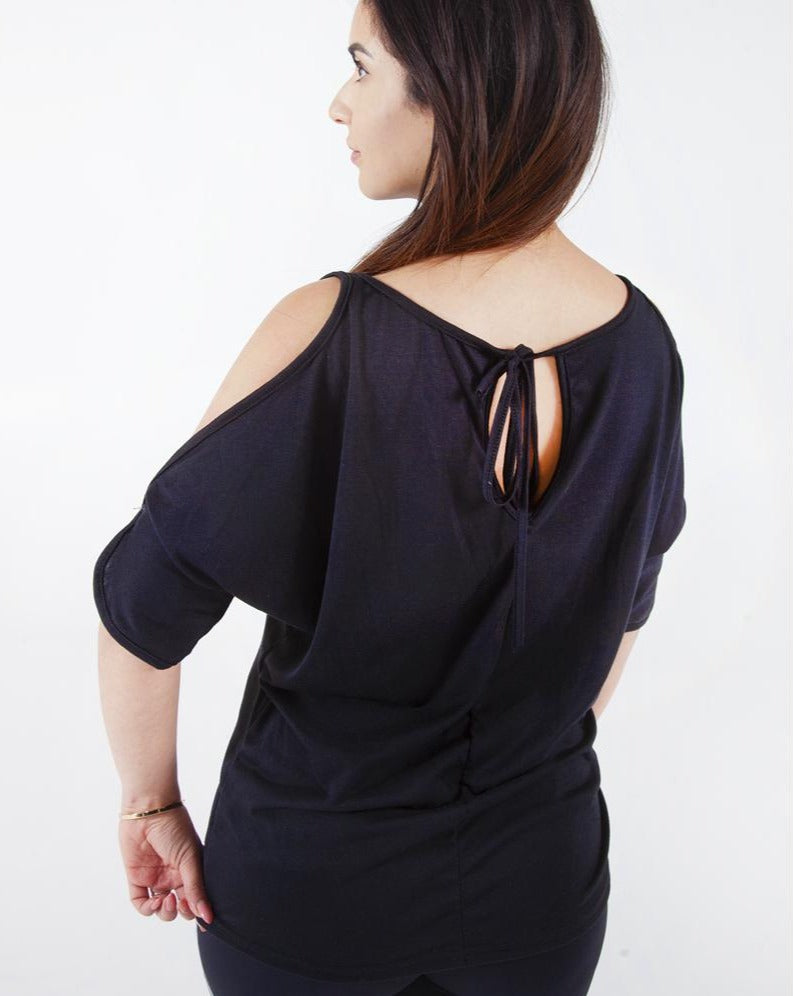 T-shirt Cold Shoulder - Black
