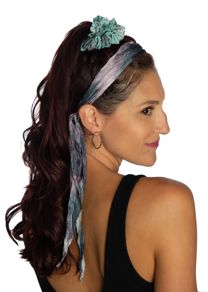 Blueberry Delight Silky Scrunchie
