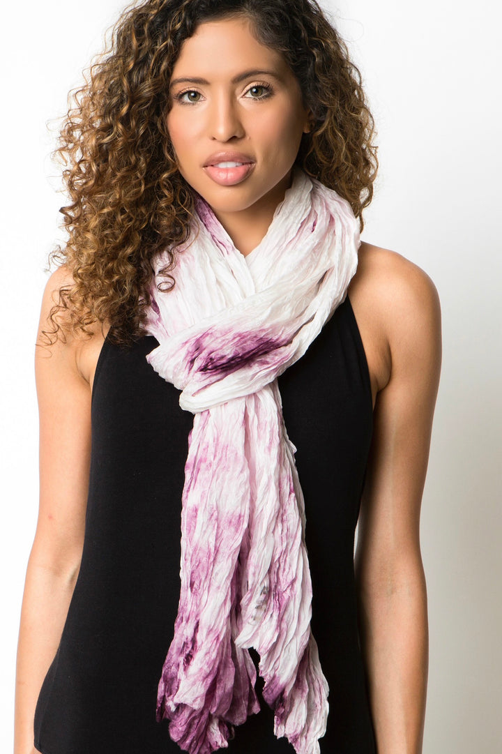 amethyst purple silk scarf