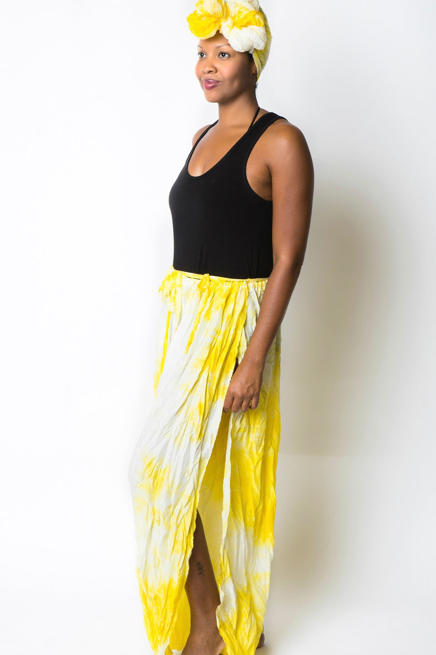 Citrine Goddess Wrap Pants