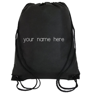 Cinch Bag: Personalized * Add your name