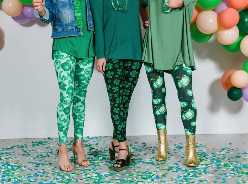 Printed Leggings OS St. Patrick's Day