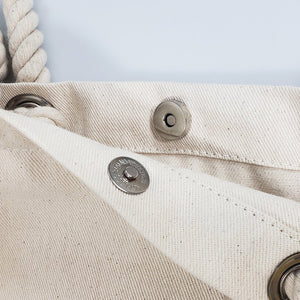 Canvas Rope Handle Tote Bag: EnviroTurtle