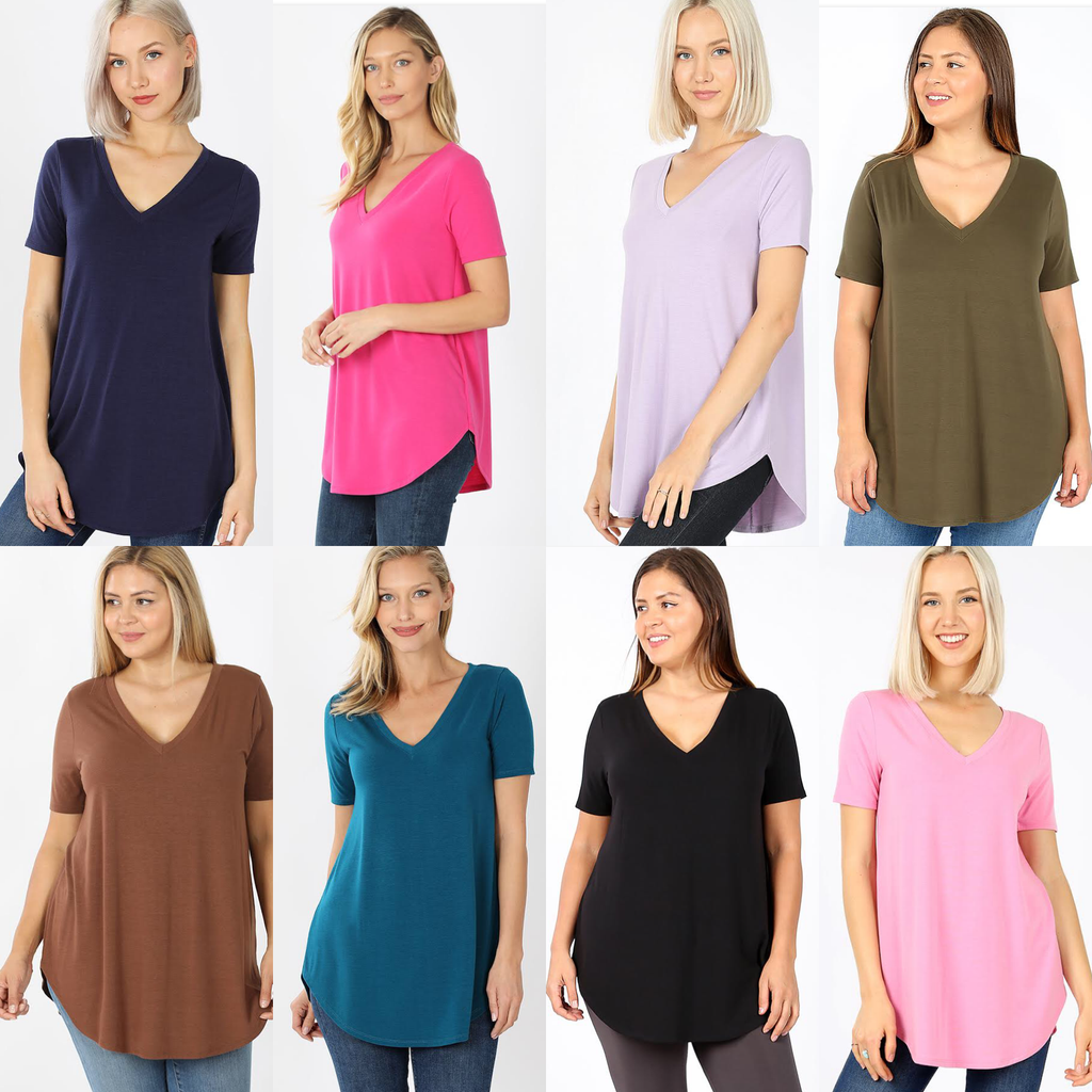 Mary Ellen ShortSleeve V-Neck Top