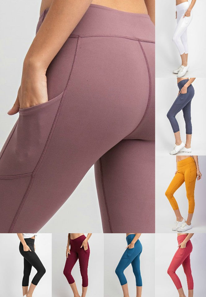 Athleisure Capri Leggings with Pockets