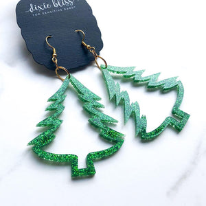 Dixie Bliss Earrings: Holiday Christmas Trees