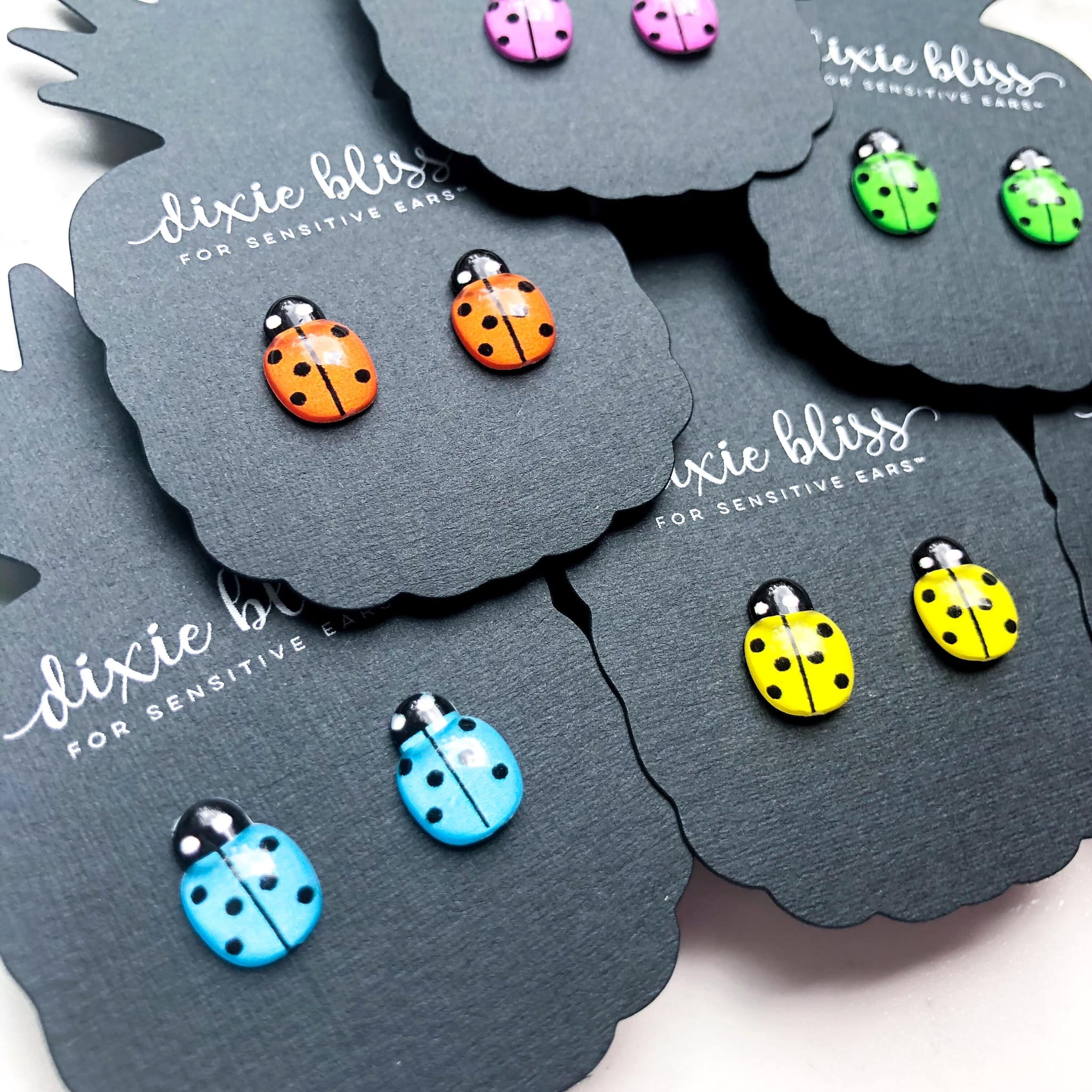 Dixie Bliss Earrings: Ladybugs