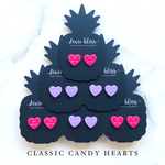 Dixie Bliss Earrings: Love Candy Hearts Classic