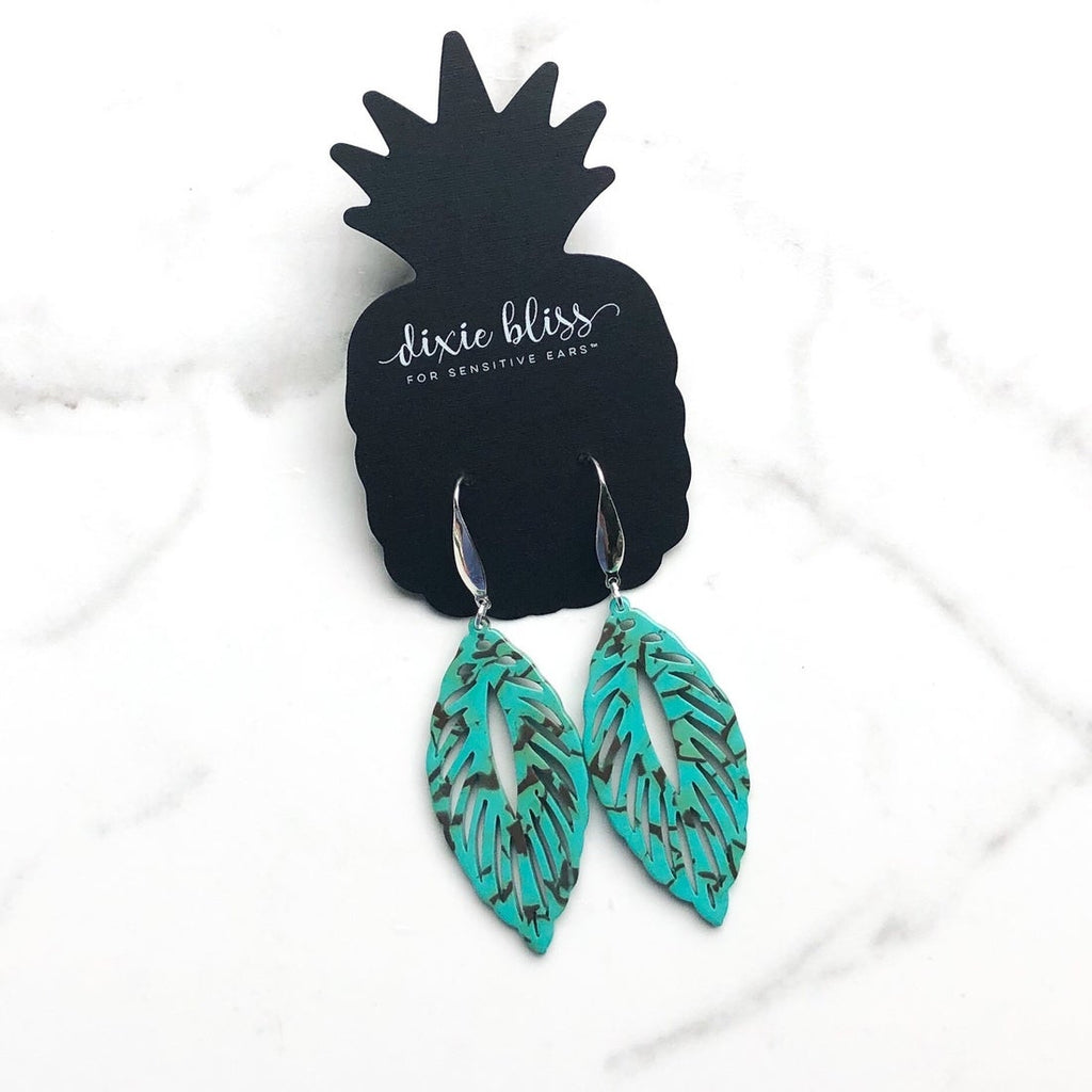 Dixie Bliss Earrings: Shiloh in Turquoise