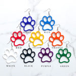 Dixie Bliss Earrings: Paw Print Dangles