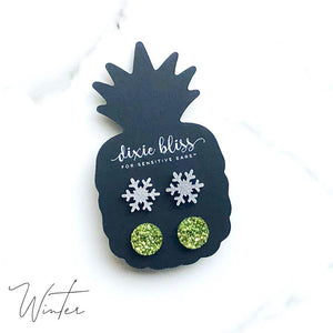 Dixie Bliss Earrings: Holiday Winter