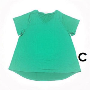 Christy V-Neck Tee Small