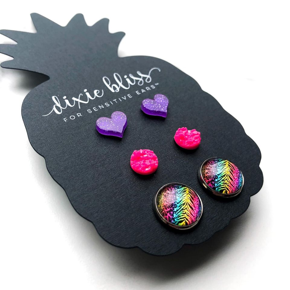 Dixie Bliss Earrings: Love Mila