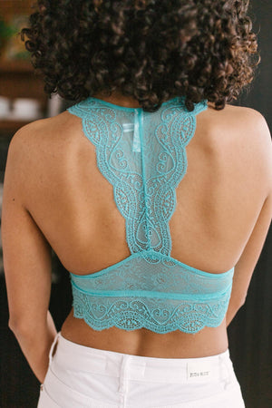Lacey Lover Bralette in Blue