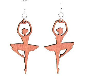 Wooden Ballerina Earrings