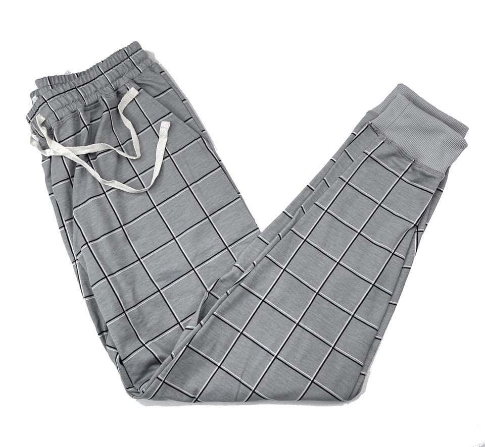 Jax Jogger Pant Small Grey Plaid