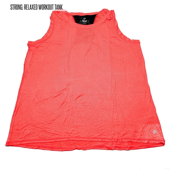 Strong Relaxed Fitness Tank 2XL Coral