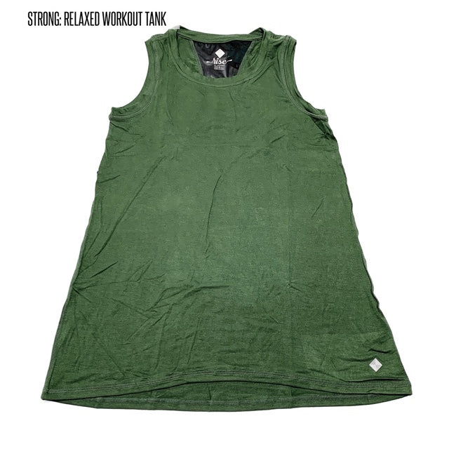 Strong Relaxed Fitness Tank 3XL Green