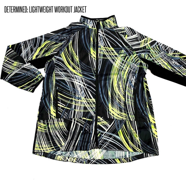 Determined Lightweight Fitness Jacket XL Lime