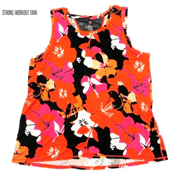 Strong Relaxed Fitness Tank 2XL Floral