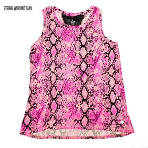 Strong Relaxed Fitness Tank XS Pink Snake
