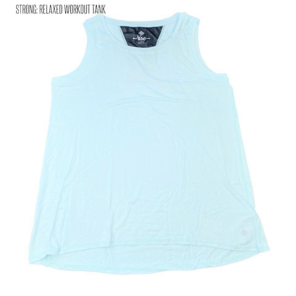 Strong Relaxed Fitness Tank Small Blue Mint