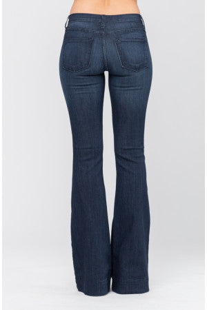 Judy Blue Avery Dark Blue Denim Flare